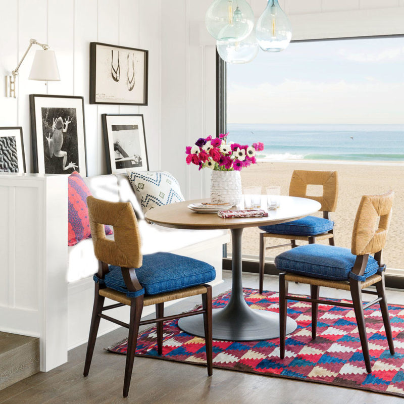 The dining area at the home of Geri Wang in Hermosa Beach, CA. Interior design by Peter Dunham.