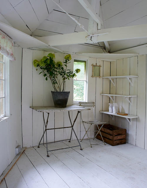 cabbages and roses garden shed