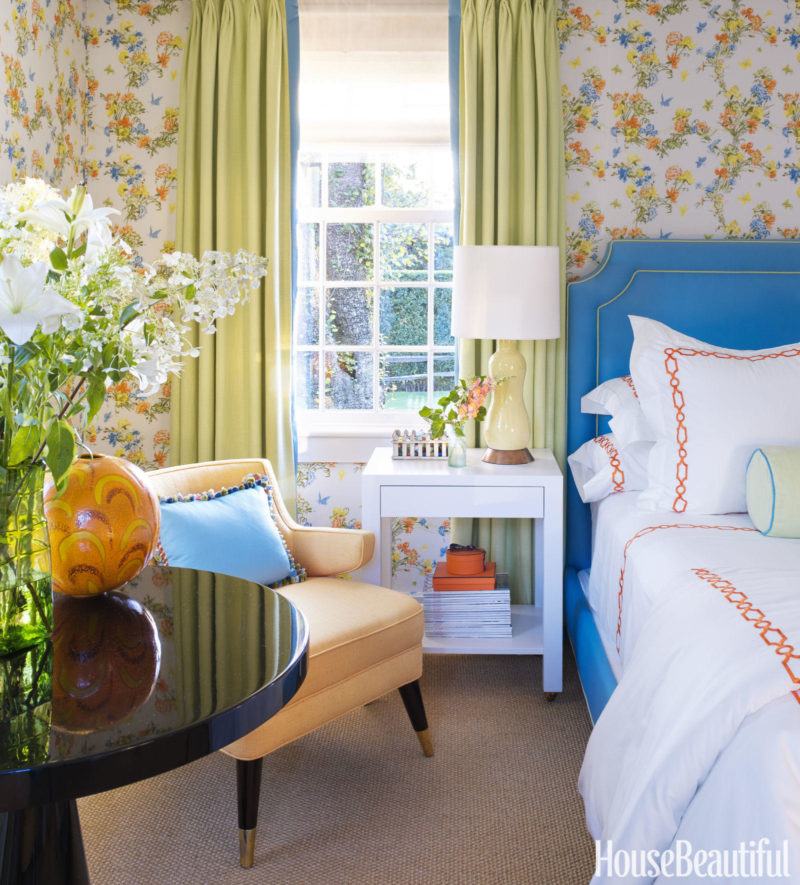 Cafe Design | Nantucket Beach House orange-bedroom