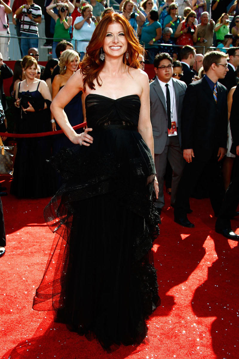 arrives at the 60th Primetime Emmy Awards held at Nokia Theatre on September 21, 2008 in Los Angeles, California.