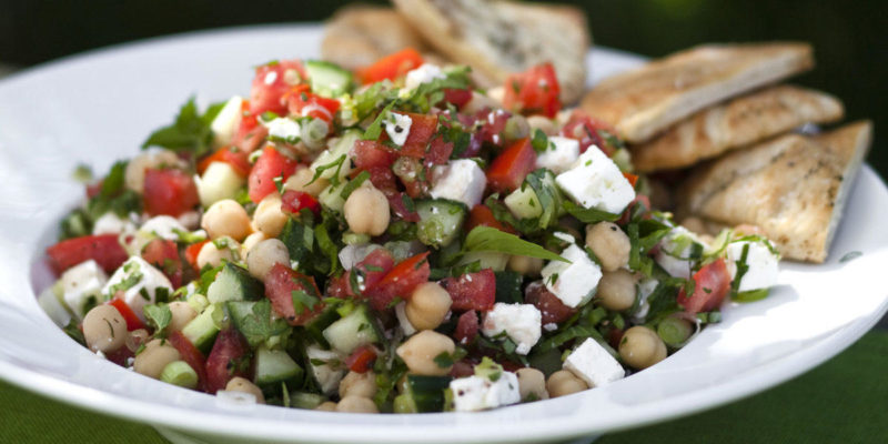 ina middle eastern salad