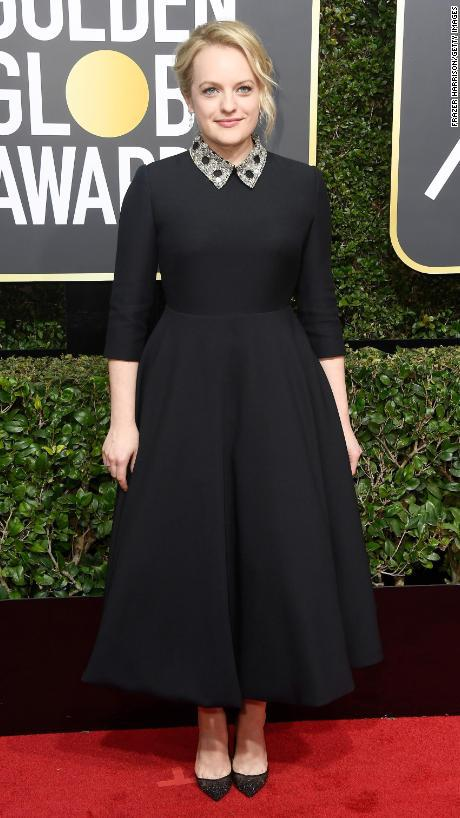 BEVERLY HILLS, CA - JANUARY 07: Actor Elisabeth Moss attends The 75th Annual Golden Globe Awards at The Beverly Hilton Hotel on January 7, 2018 in Beverly Hills, California. (Photo by Frazer Harrison/Getty Images)